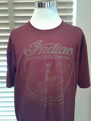 VTG Authentic Indian Motorcycle Scout Wall of Death T Shirt Size 2XL P11541