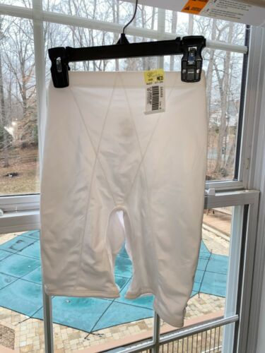 Vtg NWT Sears Venchelle High Waist Shaping White Silky Nylon Panty Size large M