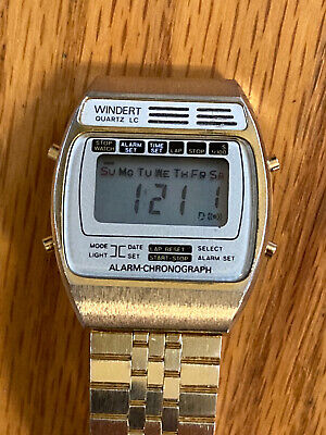 Rare Vintage Windert Quartz Alarm Chronograph Watch
