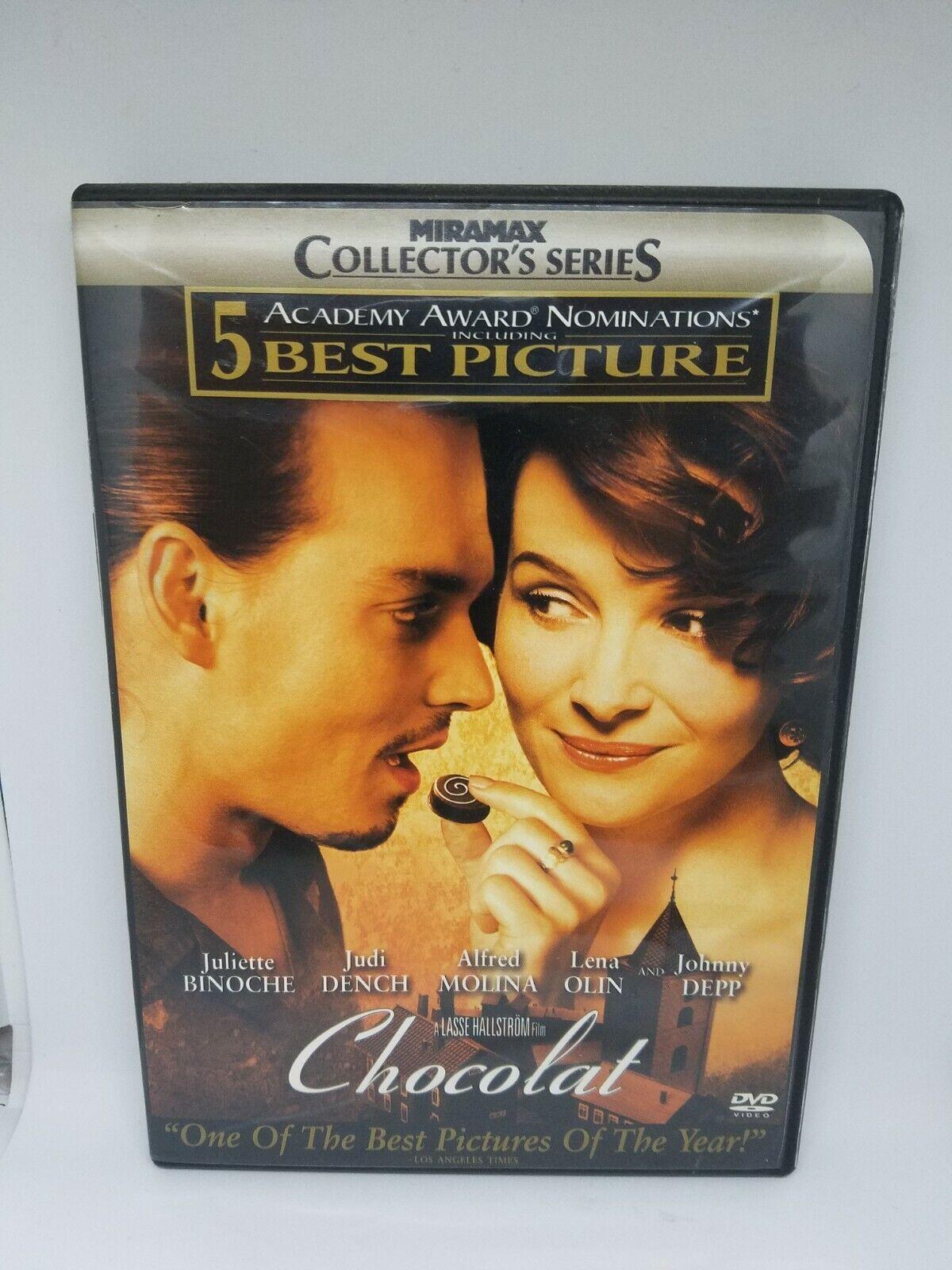 Chocolat Widescreen 2001 Collectors Edition Jonny Depp DVD - $5.95