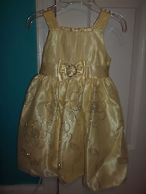 LOVE by Special Occasions Yellow Flower Dress- Available in Girls Size 4 & 5](By Special Occasions Dresses)