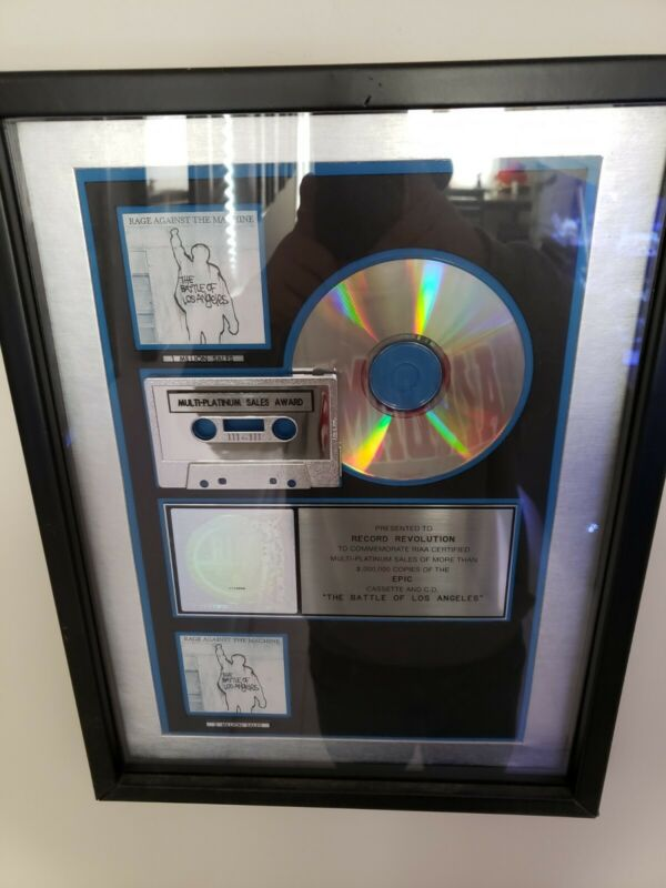 Rage against the machine RIAA Award For BATTLE OF LOS ANGELES  RARE!!!