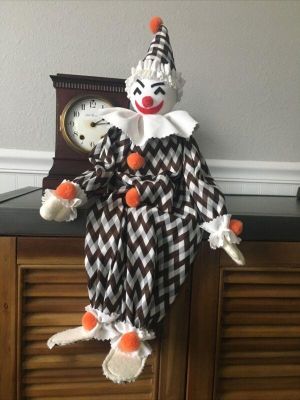 "Large vintage soft body clown Doll OOAK 24"" Tall"