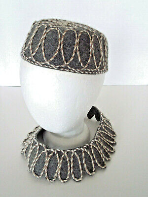 Wool Felt Hats Wholesale (Vintage Glamour Felts 100% Wool Hat Collar Mid Century Modern Piping Estate)