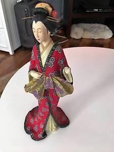 Oriental Geisha Figurine with Red Kimono in Multicolour. North Perth Vincent Area Preview