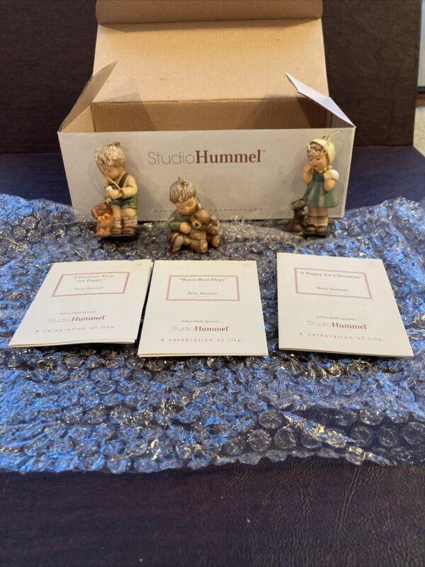 Berta Hummel Studio Hummel Ornaments - Set #10 (96040)w/COAs!!