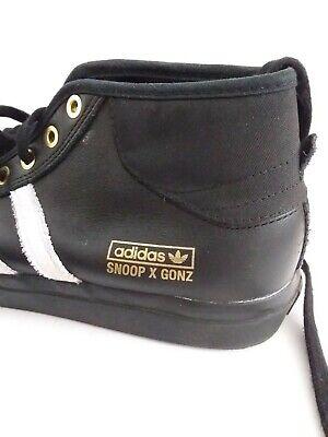 Adidas Snoop x Gonz LA Stories Matchcourt Mid Black Rare Snoop Dog Shoes Sz 10
