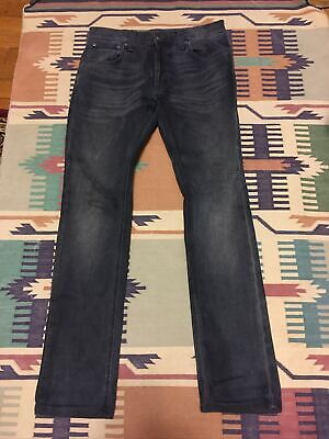 Nudie Jeans co Tape Ted Black & Blue Love Men's sz W30 L32