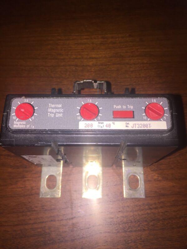 Cutler Hammer JT3200T Circuit Breaker Trip Unit 3p 200a