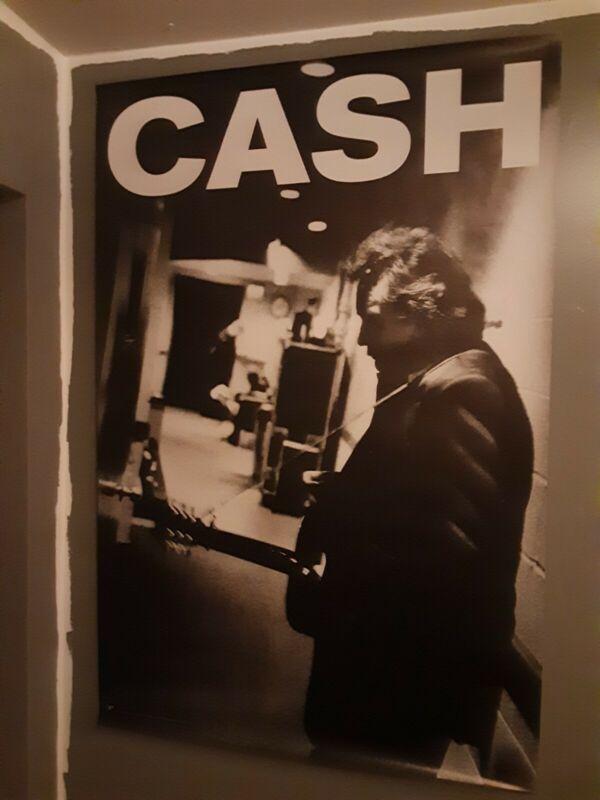 "Johnny Cash HUGE 40"" x 60"" American III Solitary Man CASH promo poster RARE"