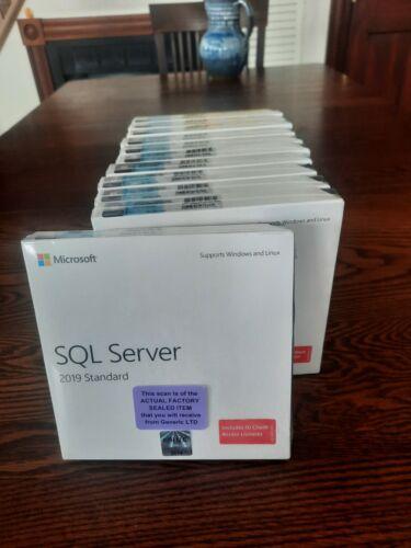 Factory Sealed - 228-11548 Microsoft SQL Server 2019 Standard 10 CAL