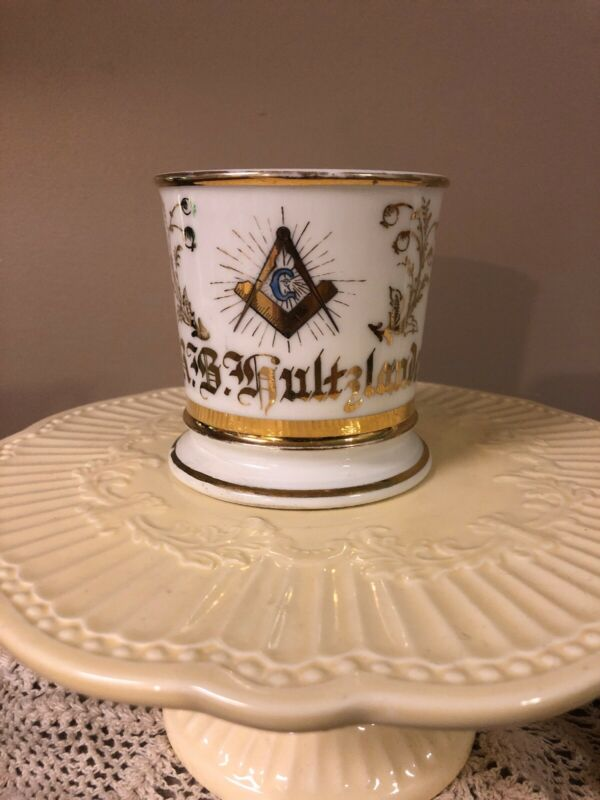 Antique Masonic Fraternal Occupational Shaving Mug Limoges T&V France