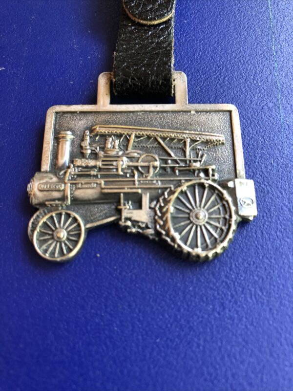 vintage antique pocket watch fob RUSSELL STEAM TRACTOR