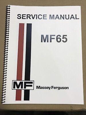 65 Massey Ferguson Tractor Technical Service Shop Repair Manual Mf65 Mf 65