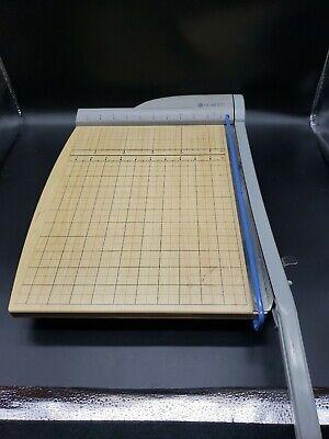 Quartet Model 9115 Wooden Paper Cutter Photo Scrapbooking Crafts Alignment Grid