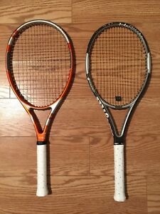 Wilson H-Rival and Dunlop 5 hundred tennis racquets