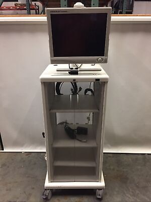 Stryker 240-030-930 Vision Elect Hd Monitor W Endoscopy Tower Cabinet