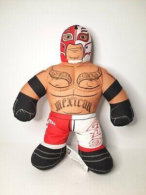 "2011 Rey Mysterio WWE Brawlin' Buddies 16"" Plush Toy Talking Red Tested Working"