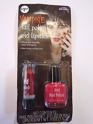 Red Vampire Peel Off Nail Polish & Lipstick Trick or Treat Halloween Costume - Peel Off Maske Halloween