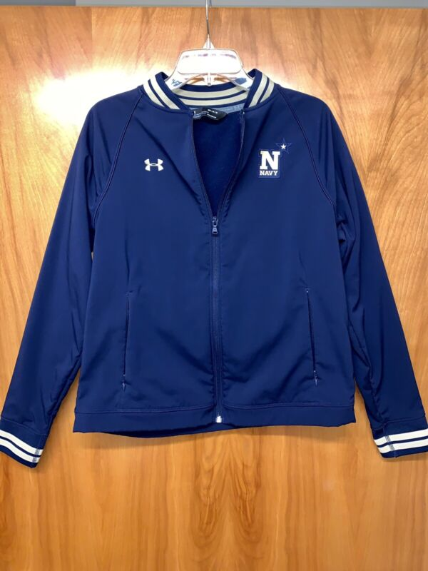 Under Armour Cold Gear Bomber Jacket Boys Medium Navy NWOT