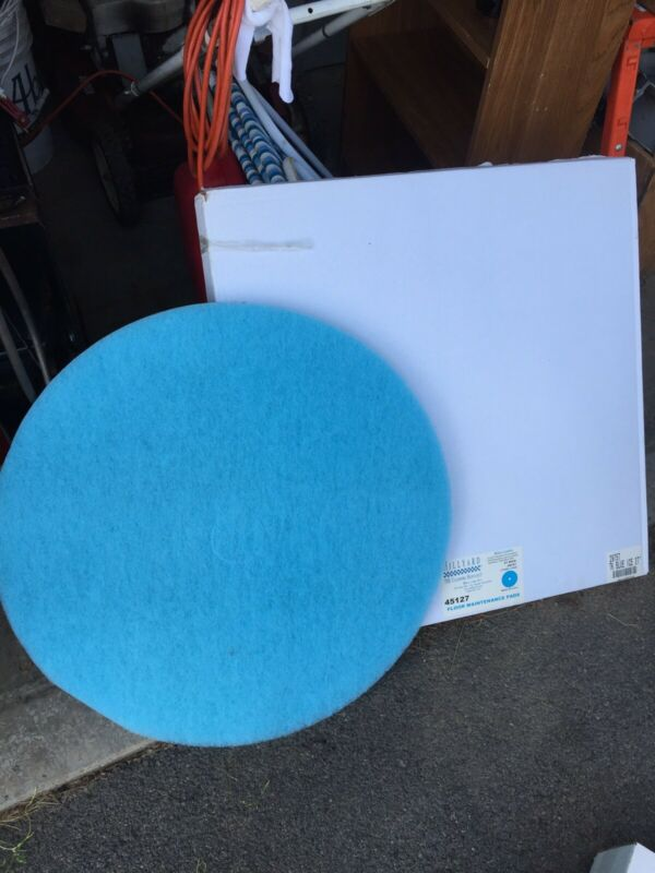 "27"" Blue Ice Floor Pad Burnishing Maintenance Pads 2 Per Case"