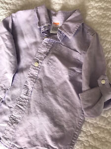 Toddler boy linen dress shirt. Size 2T