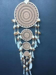 Large four ring white crochet dream catcher Port Lincoln Port Lincoln Area Preview