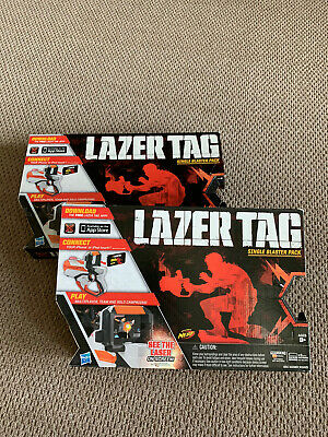 2 Sets of LAZER TAG Single Blaster Pack Hasbro Nerf Laser Combat Game