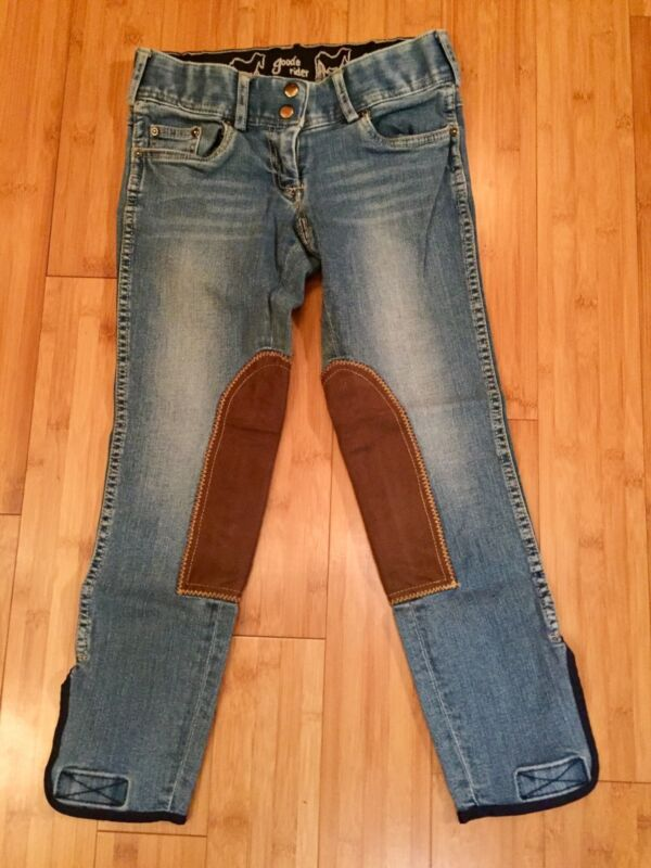 Goode Rider Girls Denim Breeches size 14 Super Soft, Stretchy, and Stylish NWOT