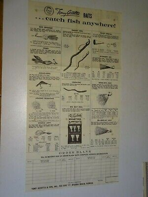 vintage Tony Accetta & Sons Baits Old Fishing Lures Catalog Riviera Beach, FL