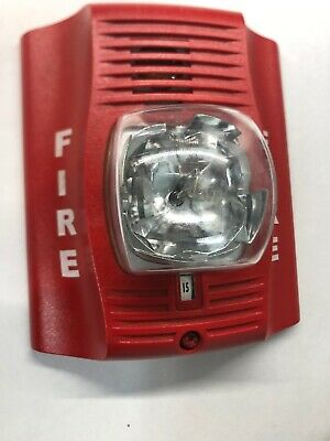 Spectralert P2ra Red 2 Wire Fire System Horn Strobe No Base