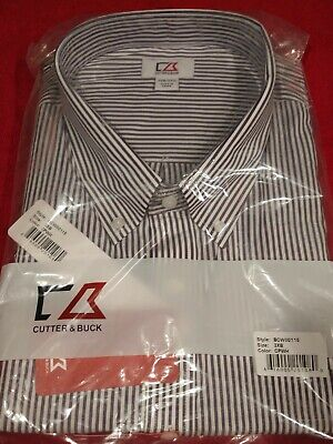 Cutter & Buck L/S Epic Easy Care Mini Bengal Button Down BCW00115 (NOS) 3XB/3TG