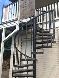 Steel spiral staircase Camira Ipswich City Preview