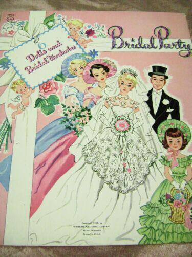 VTG PAPER DOLLS 1955 BRIDAL PARTY art HILDA MILOCHE WHITMAN #1953 RARE SET!!