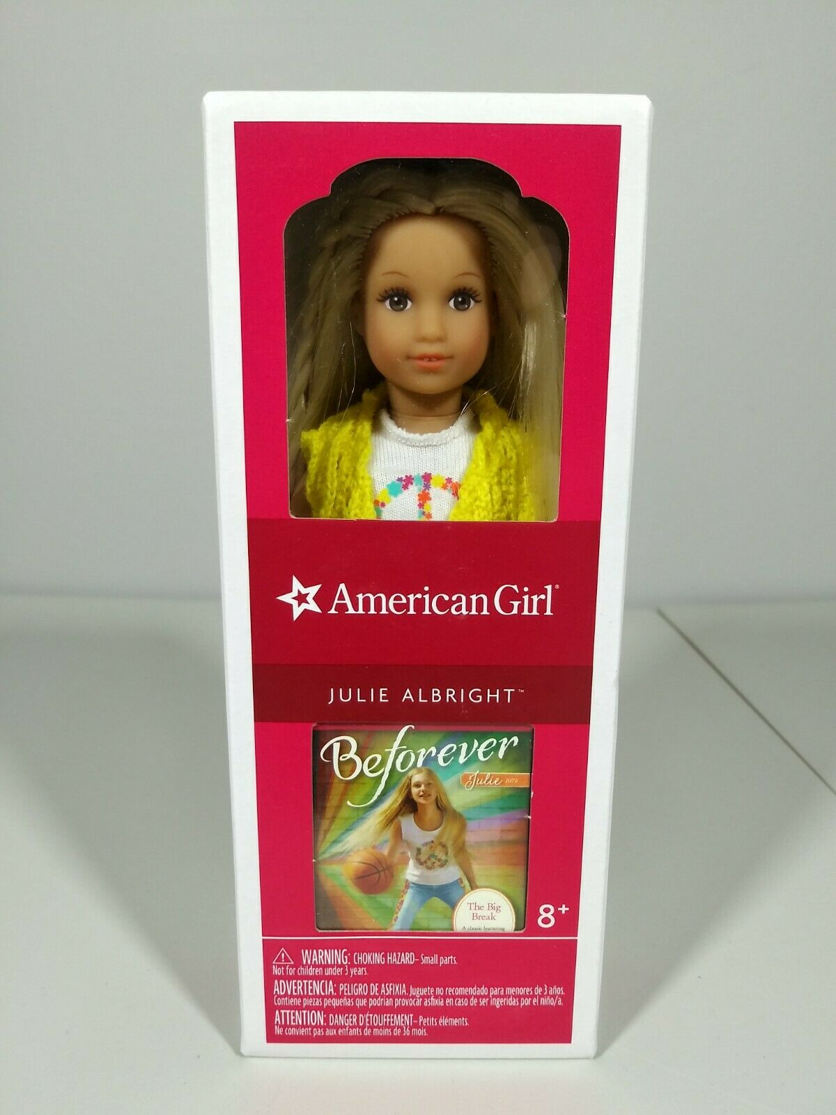 NWT American Girl Mini Doll and Book Julie 2014 NEW