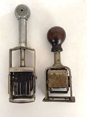 Vintage Date Stamps Stampers Made In U.s.a. Lot Of 2