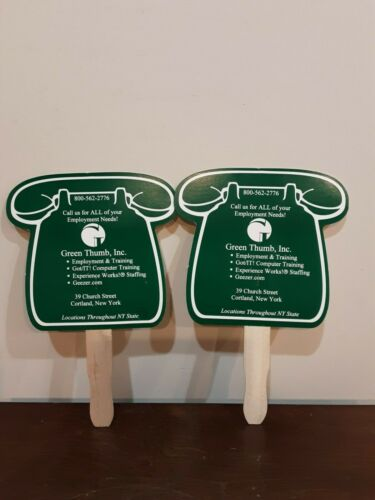 2 GREEN THUMB INC. HAND FANS