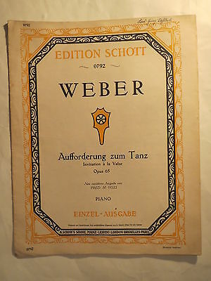 NOTEN - Carl Maria von Weber - Aufforderung zum Tanz - Opus 65 / Piano