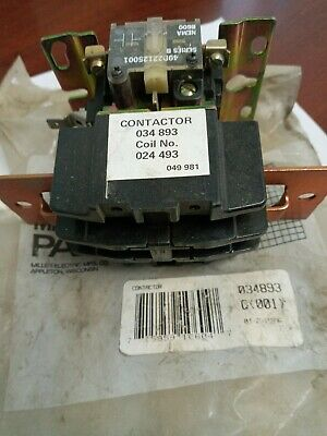 Miller 034893 Contactor.old Stock Item Out Of Bag.please See Pics.