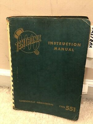 Excellent Vintage Tektronix 551 Dual Beam Oscilloscope Instruction Manual