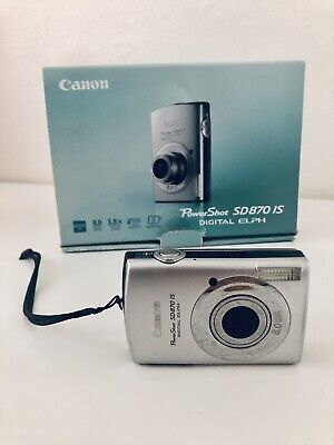 Canon PowerShot SD1100 IS 8MP 3X Digital Camera Silver Elph Excellent Condition
