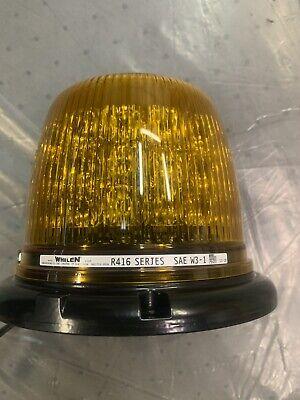 Whelen R416 Series Rota Beam Led Beacon Amber R416a Magnetic Strobe Light
