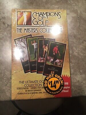 Tiger Woods Rookie. 1997 1998 Grand Slam Champions Of Golf Masters Box, SEALED