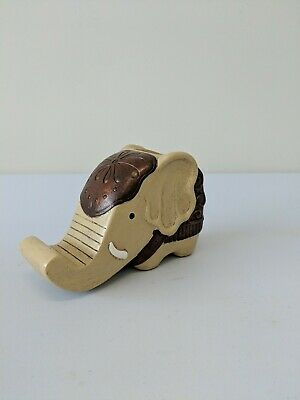 Elephant Wooden Pen Cup Pencil Holder - Desk Decor Organizer W Cell Phone Stand