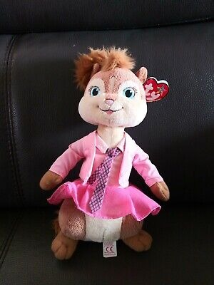 Ty Beanie Buddy Brittany the Chipmunk from Alvin & the Chipmunks 10