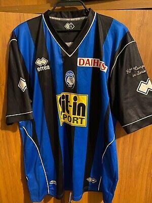 Vintage Errea Atalanta 1907 Home Football Shirt Jersey Mens Size XL #8 Garics image