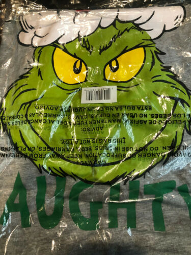 New The Grinch Dr. Seuss Always Naughty Holiday 2 pcs Sleepwear Set Women Small