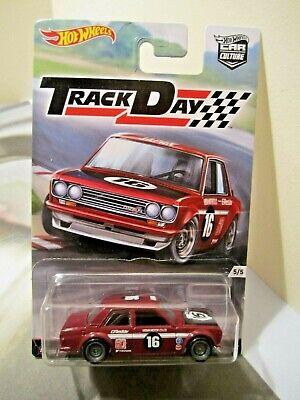 Hot Wheels Car Cuture Track Day Datsun Bluebird 510 real riders & metal/metal