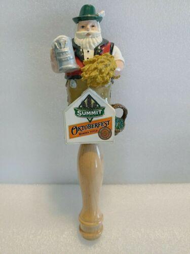 "Summit Oktoberfest Bearded Man Figural 10"" Draft Beer Keg Bar Tap Handle"