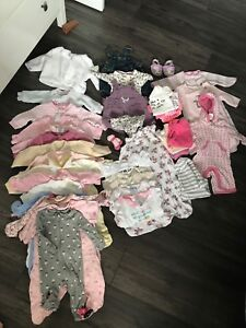 Girls baby clothes 0-3 mths